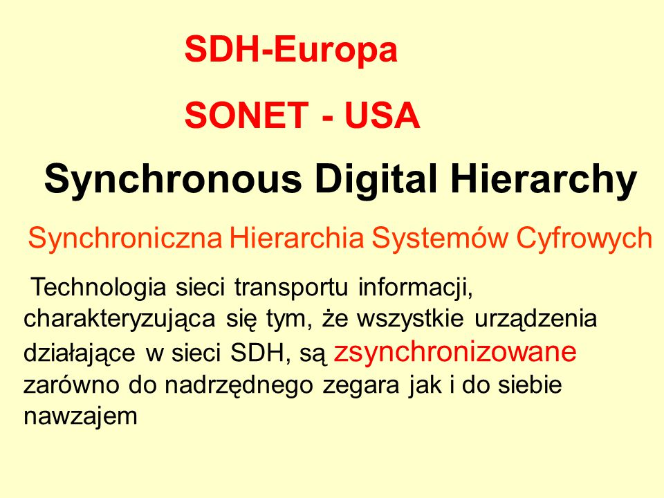 Synchronous Digital Hierarchy