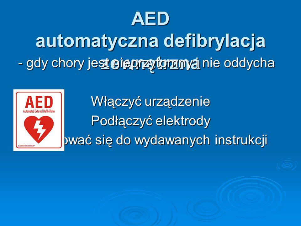 AED automatyczna defibrylacja zewnętrzna