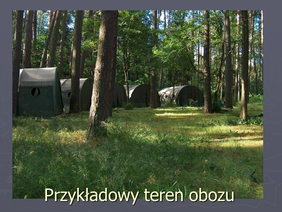 Przykładowy teren obozu