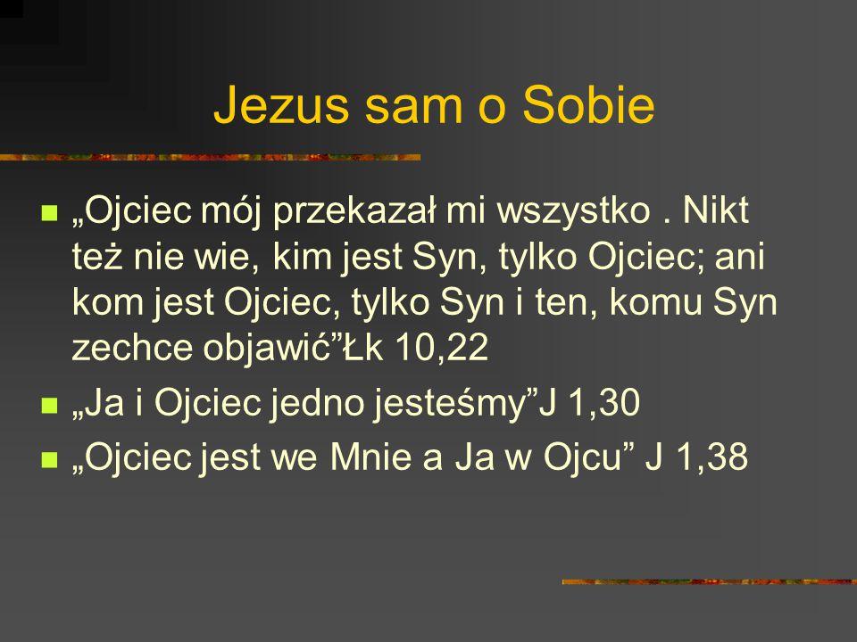 Jezus sam o Sobie