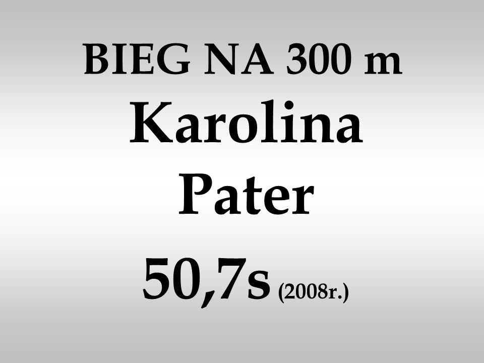 BIEG NA 300 m Karolina Pater 50,7s (2008r.)