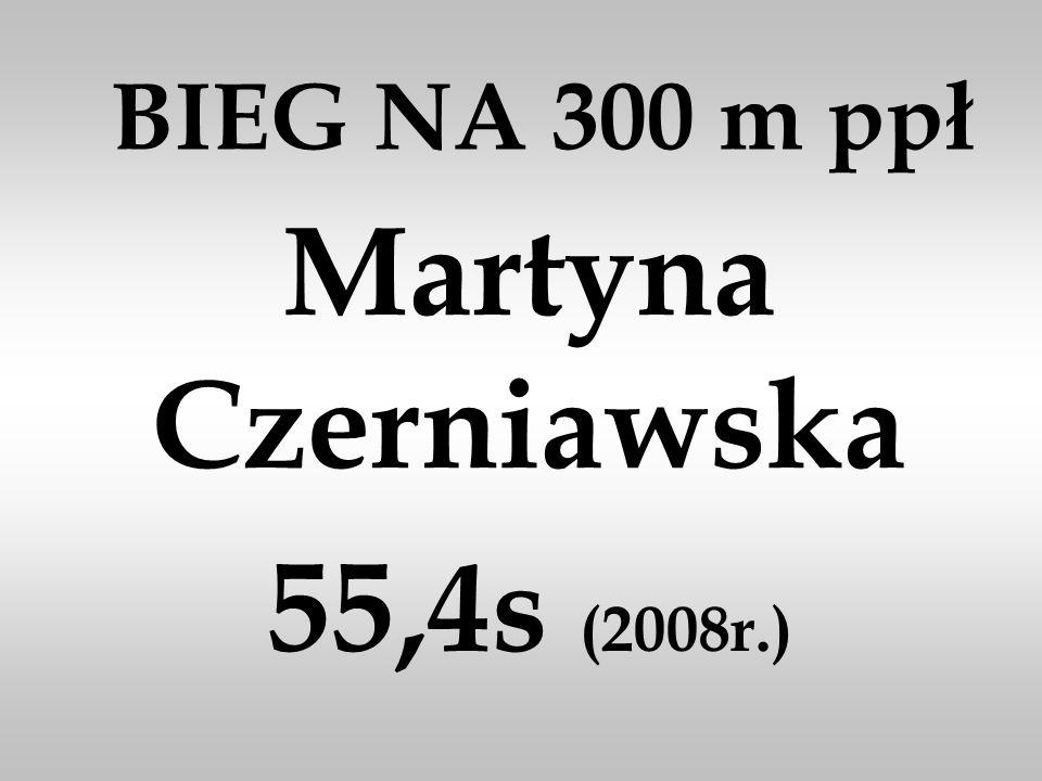 Martyna Czerniawska 55,4s (2008r.)