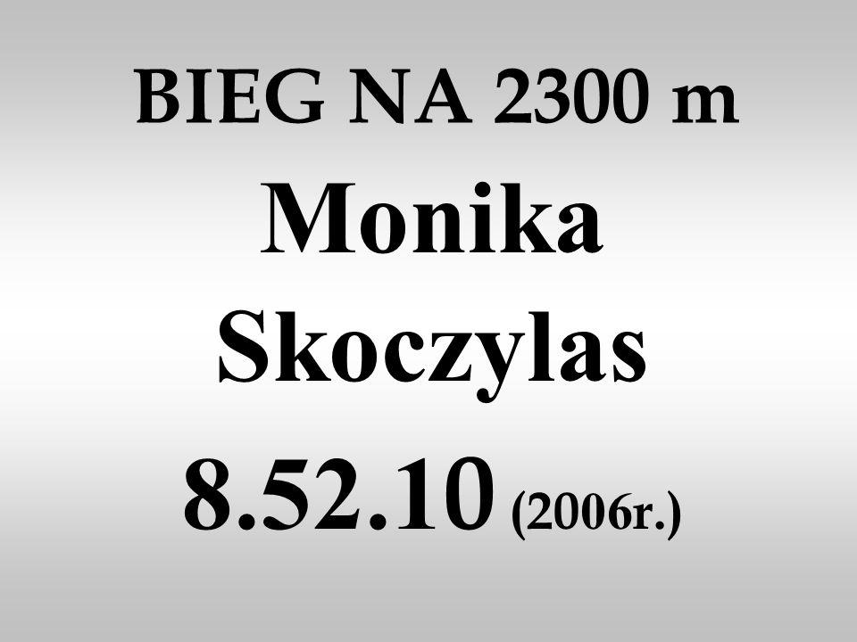 BIEG NA 2300 m Monika Skoczylas 8.52.10 (2006r.)