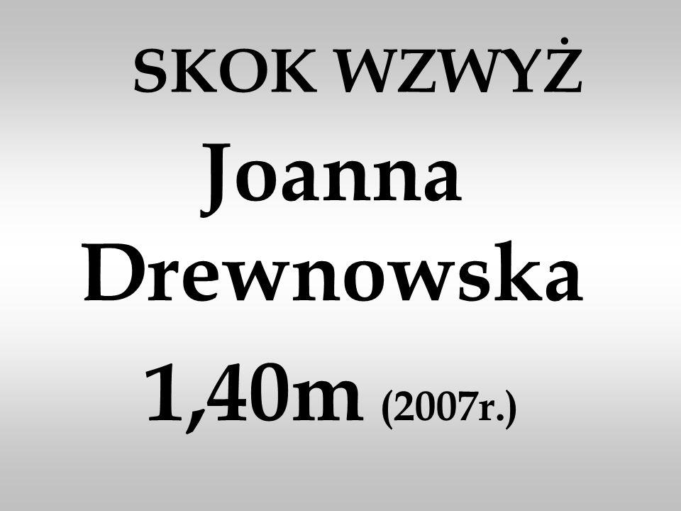 Joanna Drewnowska 1,40m (2007r.)