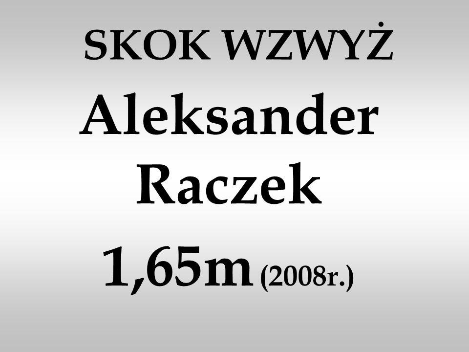 Aleksander Raczek 1,65m (2008r.)