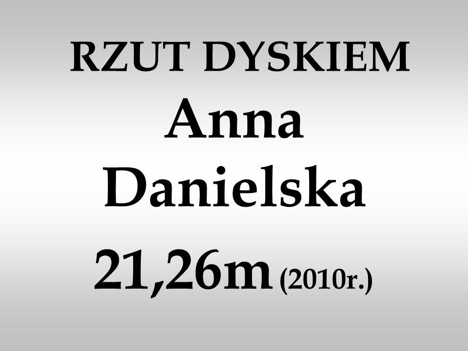 RZUT DYSKIEM Anna Danielska 21,26m (2010r.)