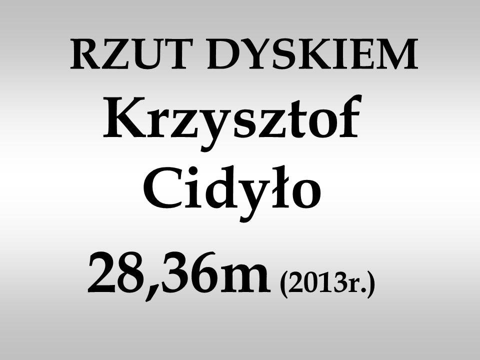 RZUT DYSKIEM Krzysztof Cidyło 28,36m (2013r.)