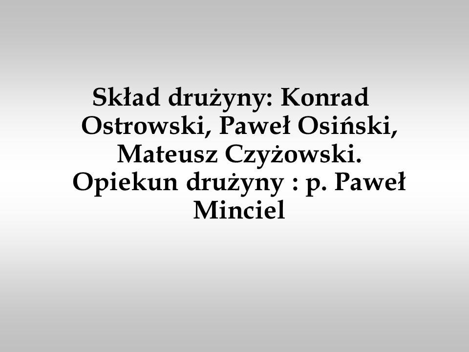 Skład drużyny: Konrad Ostrowski, Paweł Osiński, Mateusz Czyżowski