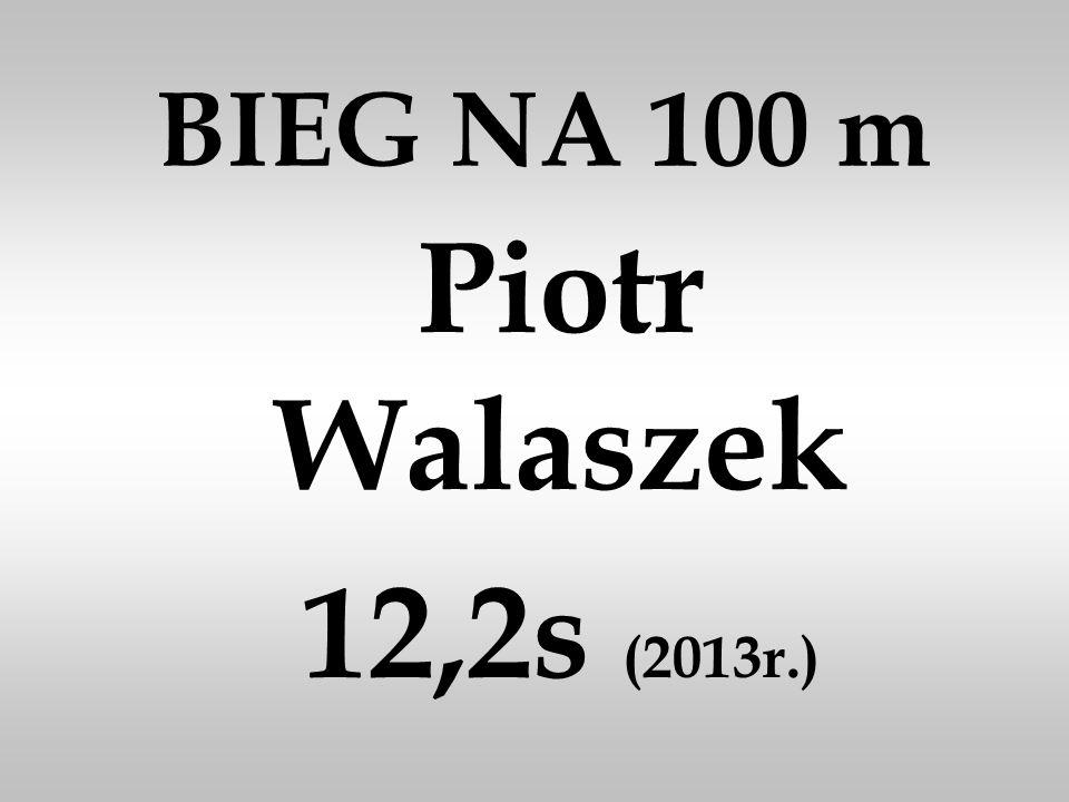 BIEG NA 100 m Piotr Walaszek 12,2s (2013r.)