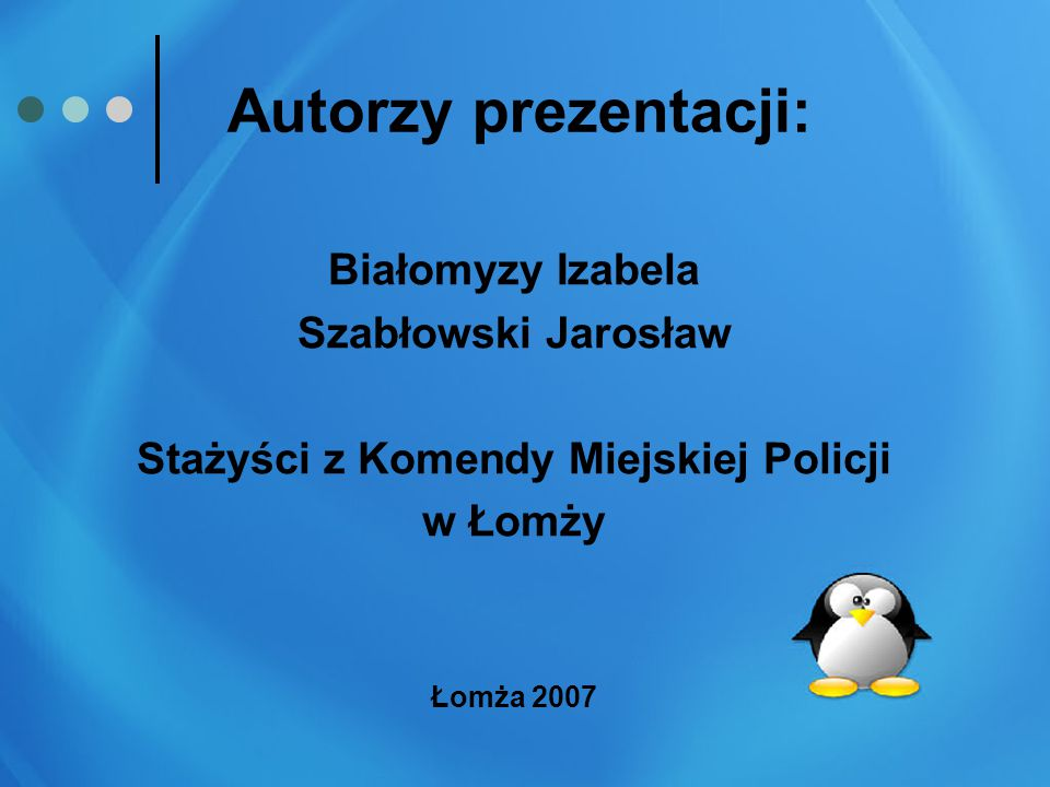 Stażyści z Komendy Miejskiej Policji