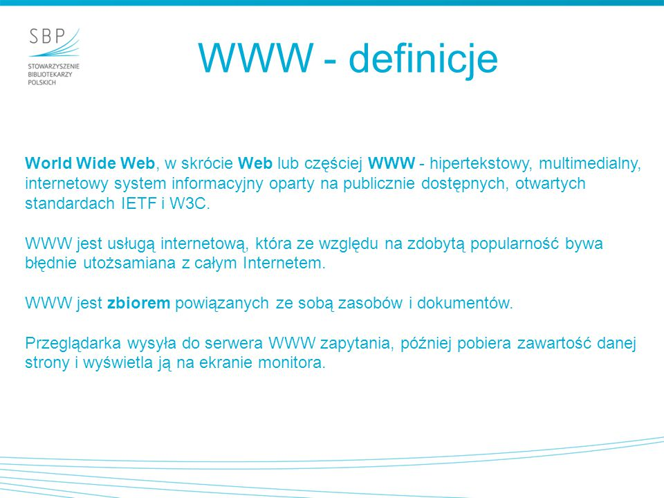 WWW - definicje