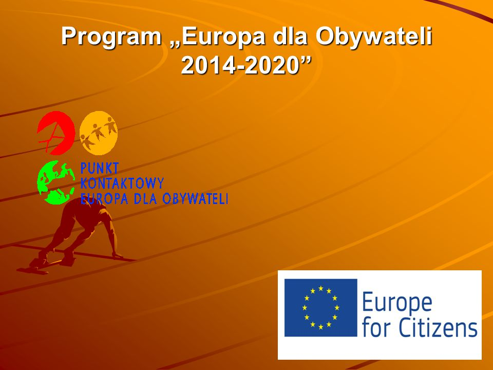 """Program """"Europa dla Obywateli 2014-2020"""