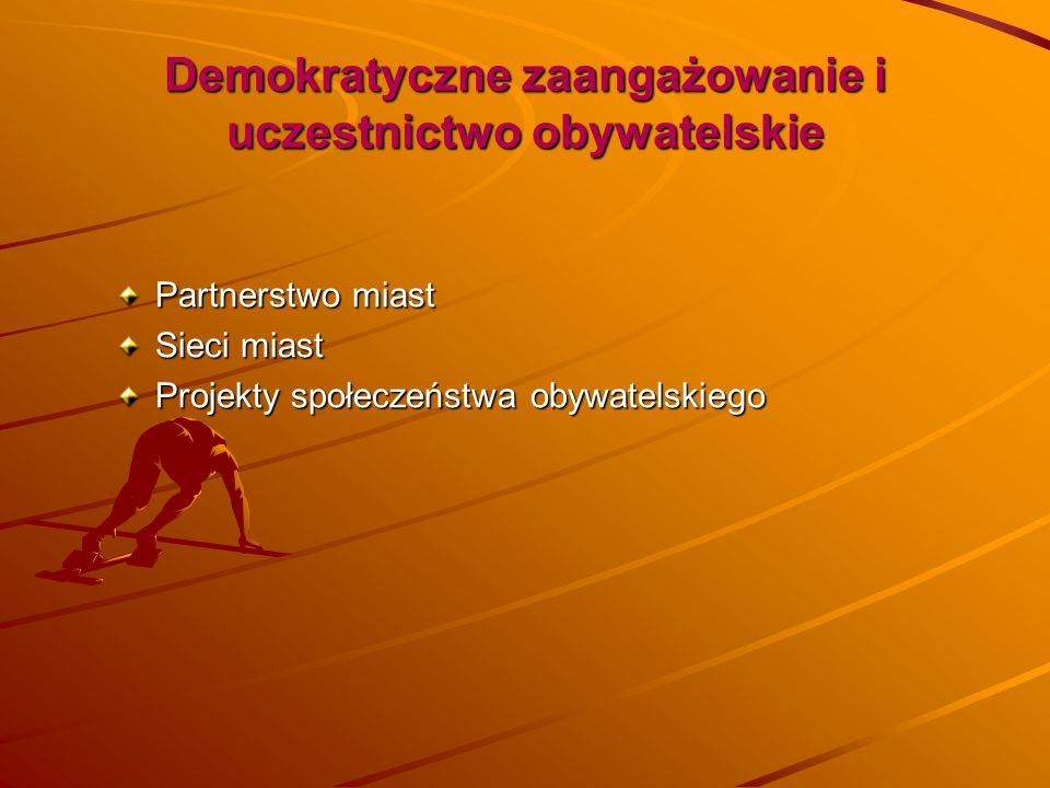 Demokratyczne zaangażowanie i uczestnictwo obywatelskie