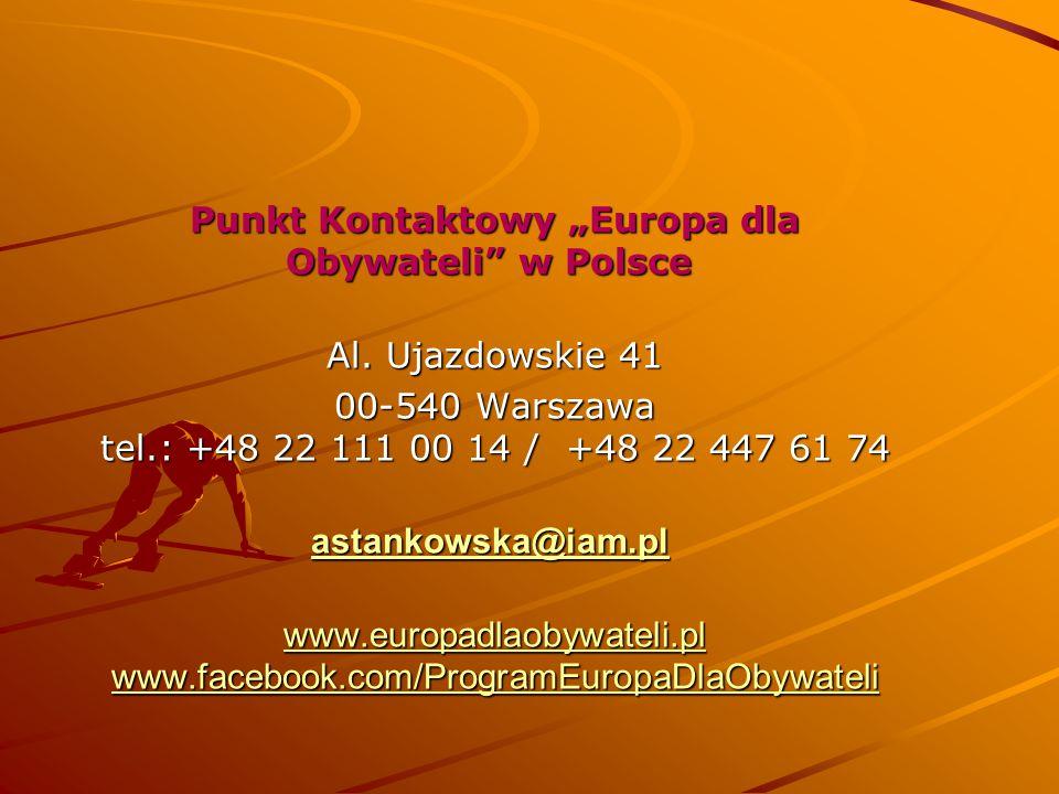 """Punkt Kontaktowy """"Europa dla Obywateli w Polsce"""