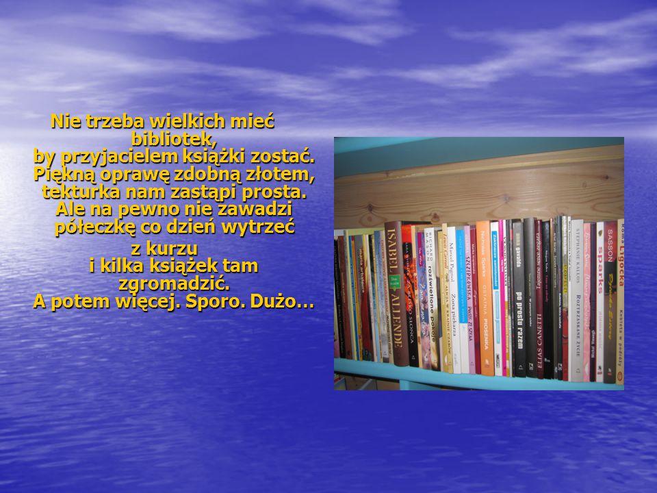 z kurzu i kilka książek tam zgromadzić. A potem więcej. Sporo. Dużo…