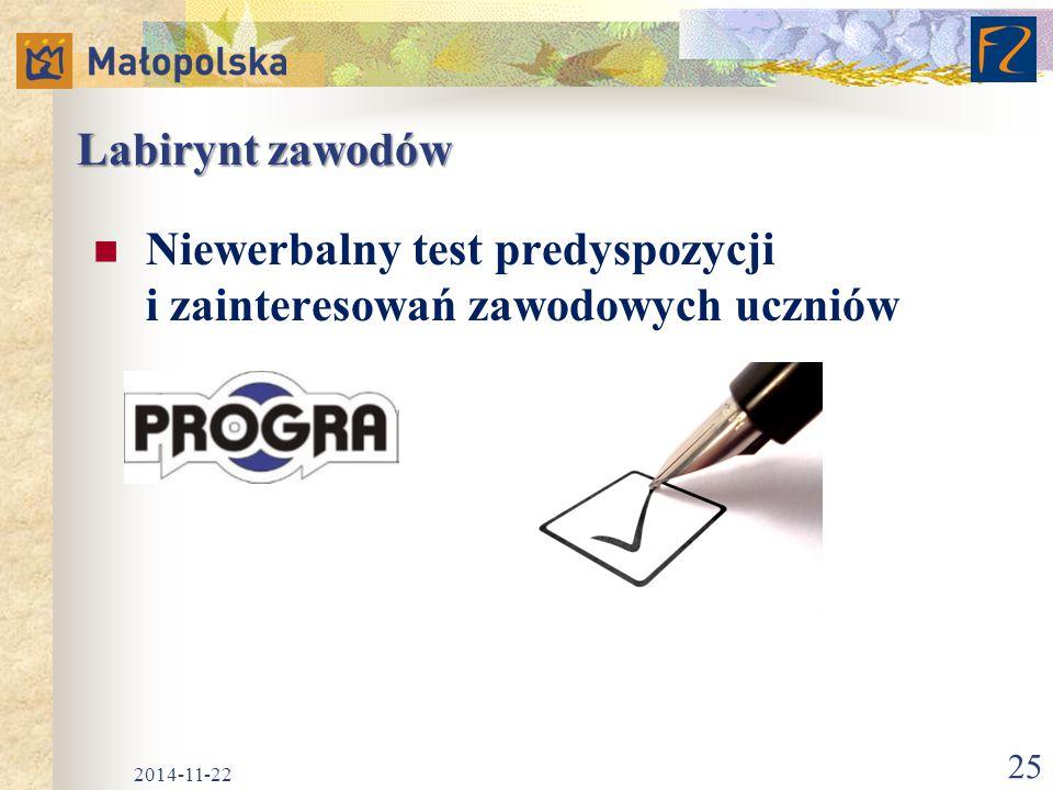 Niewerbalny test predyspozycji i zainteresowań zawodowych uczniów