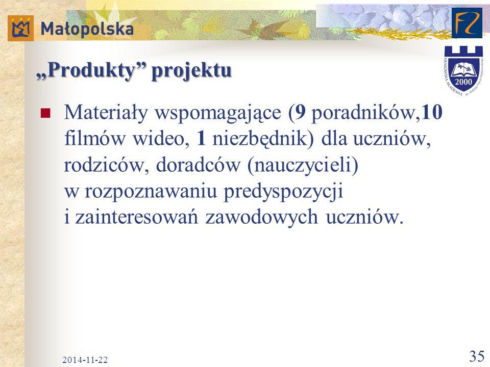 """""""Produkty projektu"""