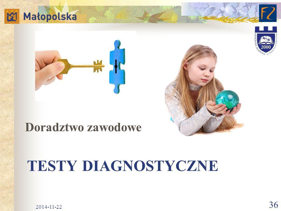 Doradztwo zawodowe Testy diagnostyczne 2017-04-07