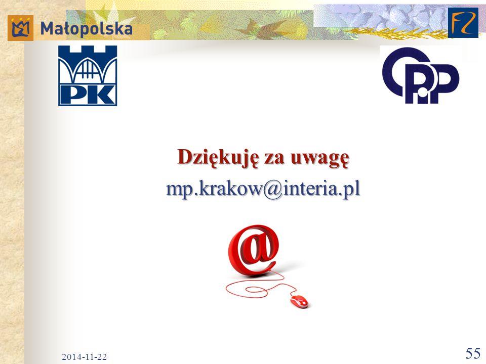 Dziękuję za uwagę mp.krakow@interia.pl 2017-04-07