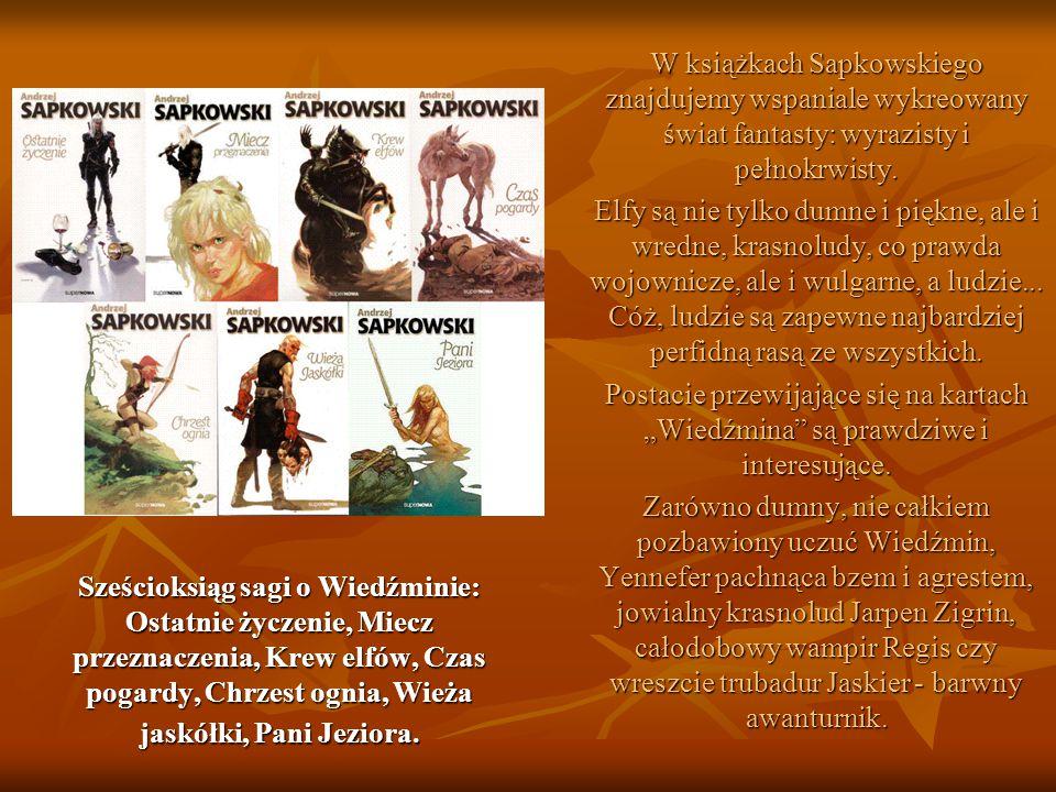W książkach Sapkowskiego znajdujemy wspaniale wykreowany świat fantasty: wyrazisty i pełnokrwisty.