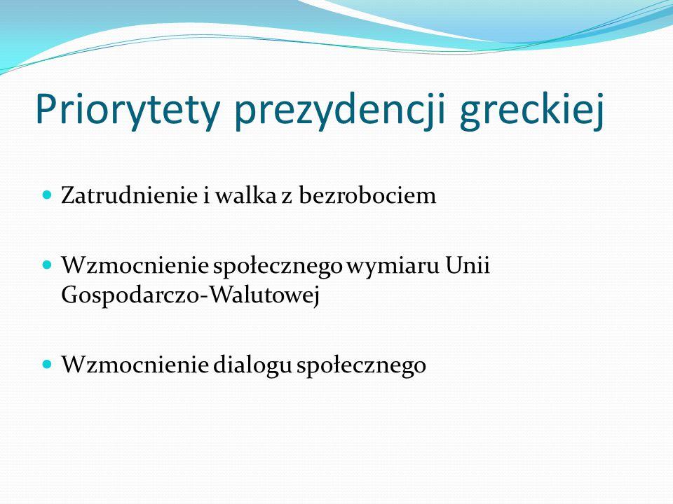 Priorytety prezydencji greckiej