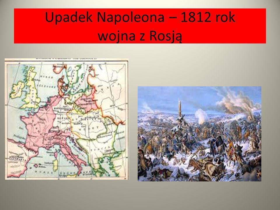 Upadek Napoleona – 1812 rok wojna z Rosją