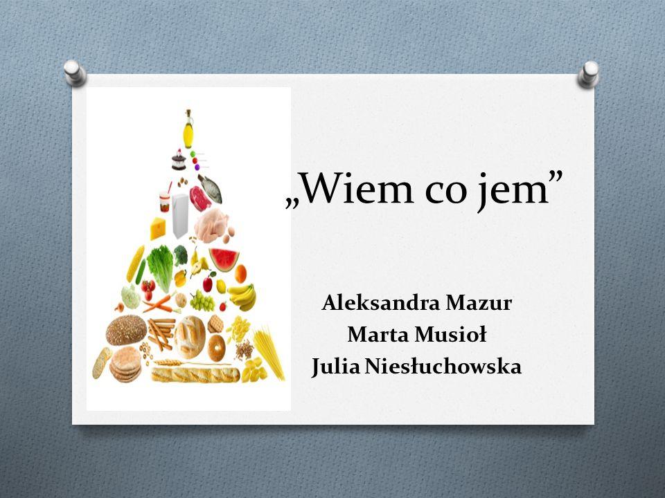 Aleksandra Mazur Marta Musioł Julia Niesłuchowska