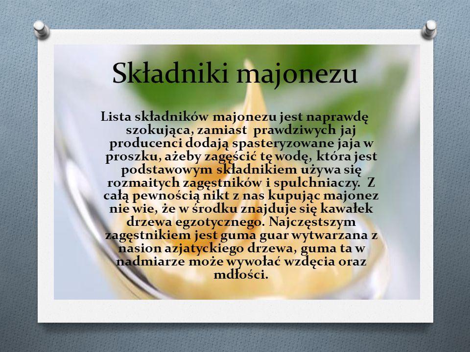 Składniki majonezu