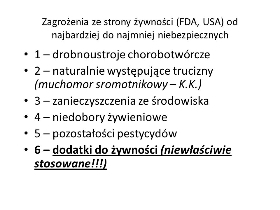 1 – drobnoustroje chorobotwórcze