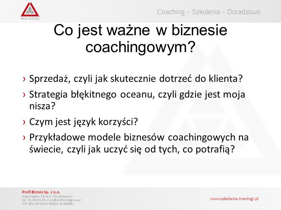 Co jest ważne w biznesie coachingowym