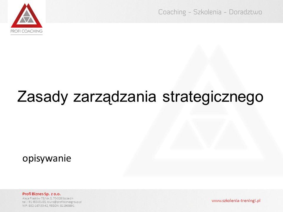 Zasady zarządzania strategicznego