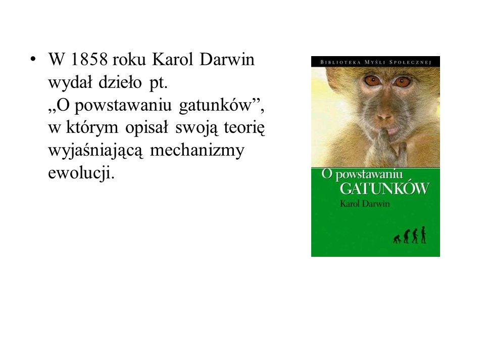 W 1858 roku Karol Darwin wydał dzieło pt