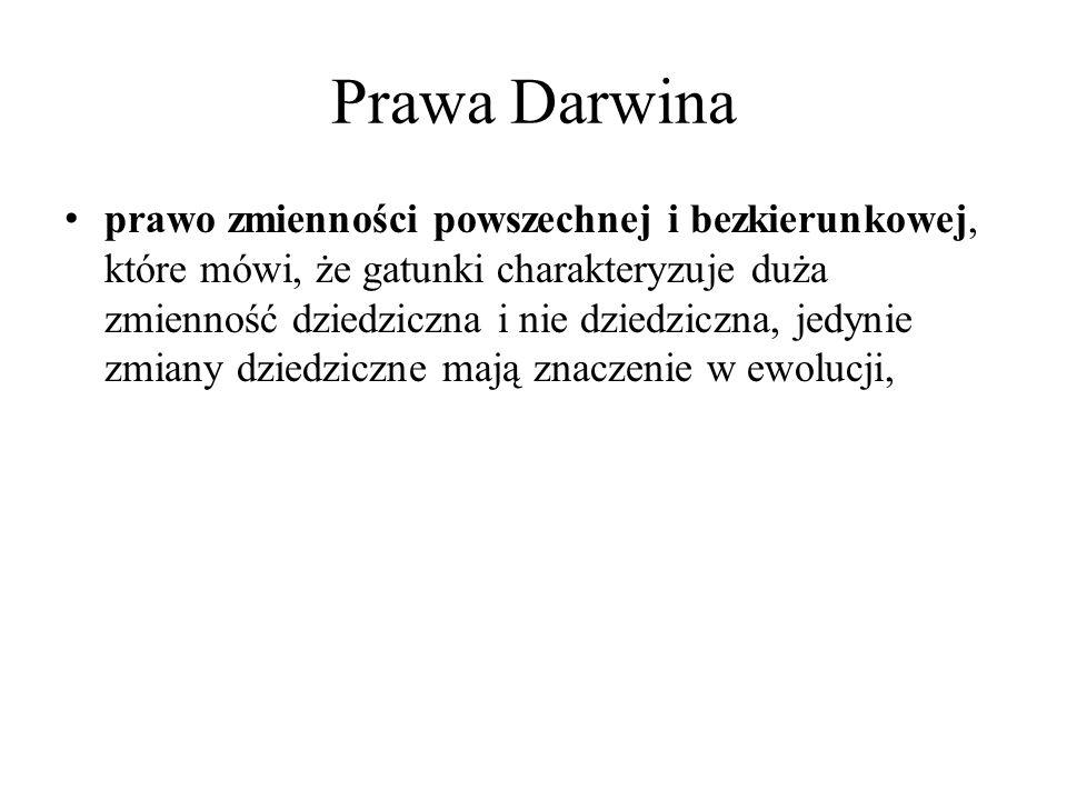 Prawa Darwina