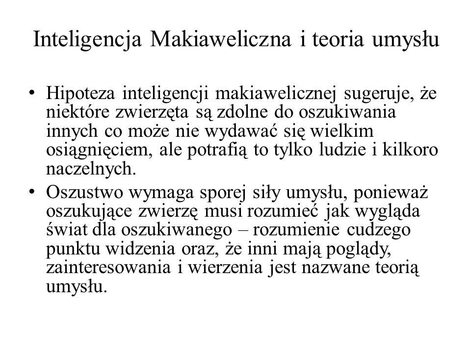 Inteligencja Makiaweliczna i teoria umysłu