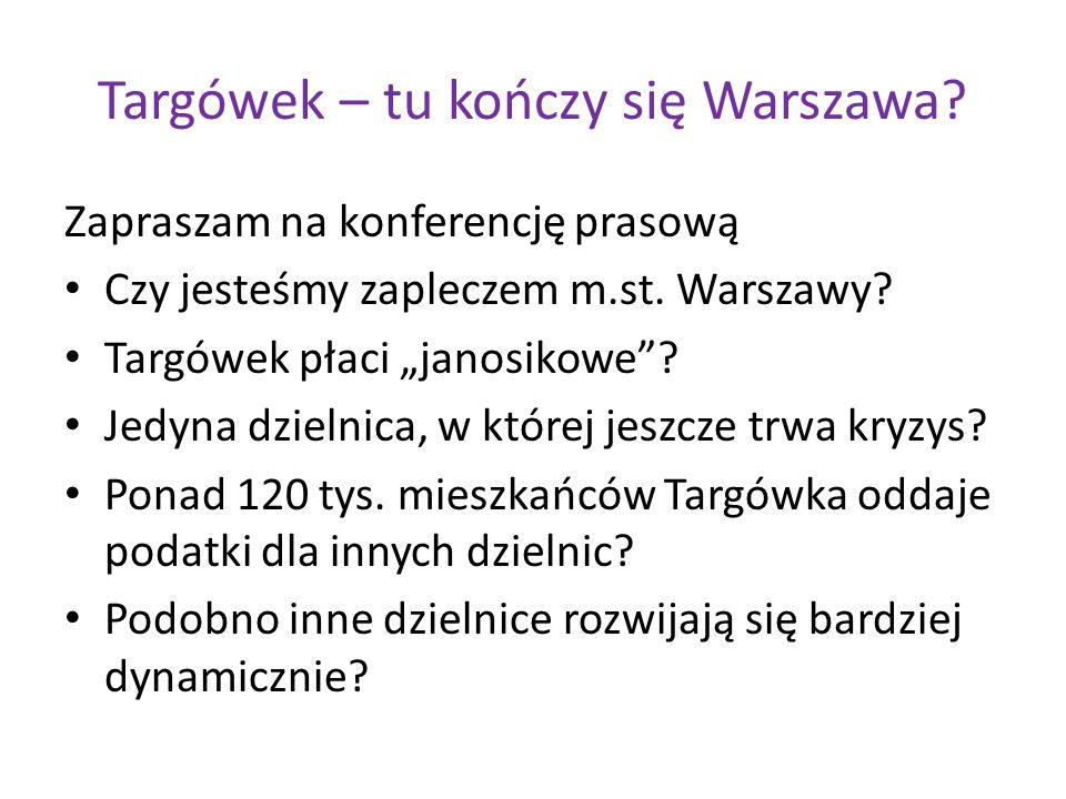 Targówek – tu kończy się Warszawa