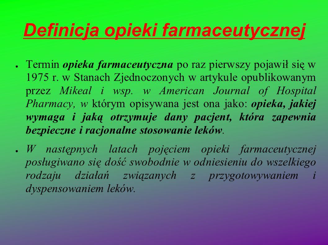 Definicja opieki farmaceutycznej