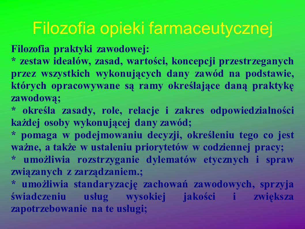 Filozofia opieki farmaceutycznej