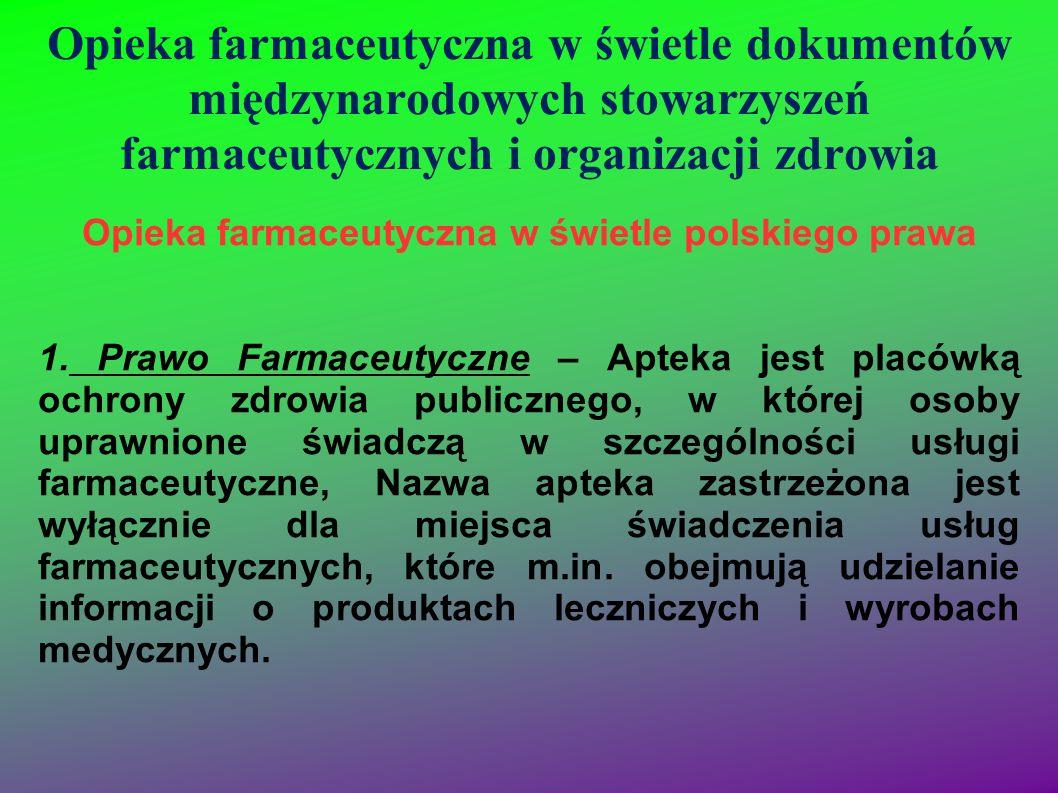 Opieka farmaceutyczna w świetle polskiego prawa