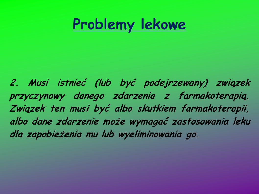 Problemy lekowe