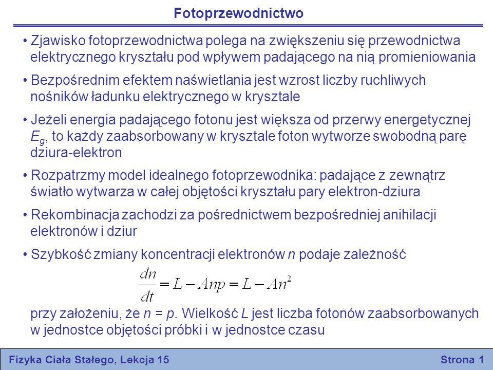 Fizyka Ciała Stałego, Lekcja 15 Strona 1