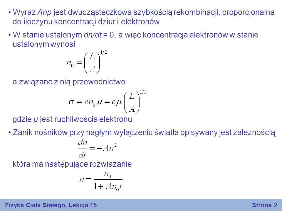 Fizyka Ciała Stałego, Lekcja 15 Strona 2