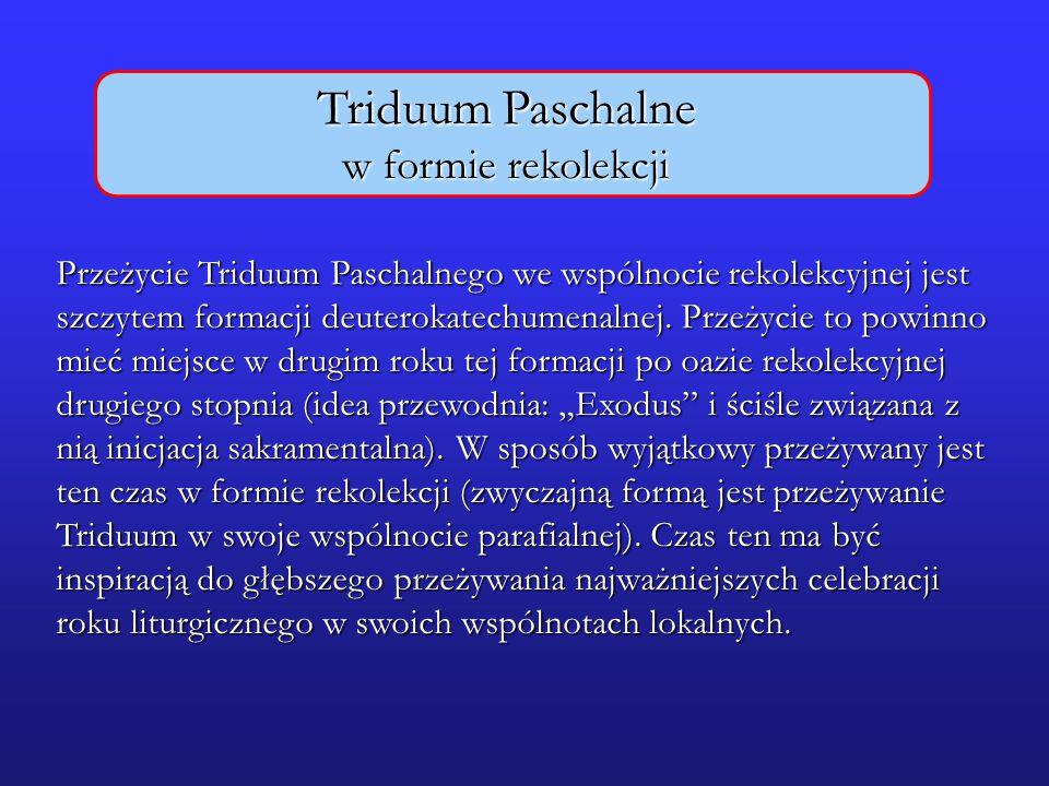 Triduum Paschalne w formie rekolekcji