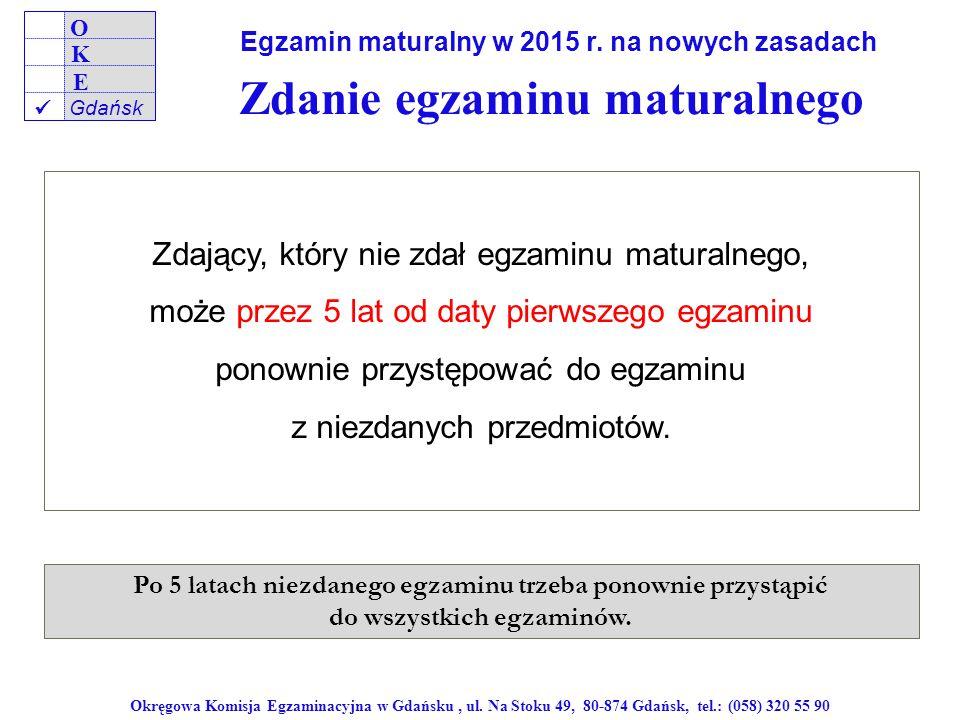 Zdanie egzaminu maturalnego