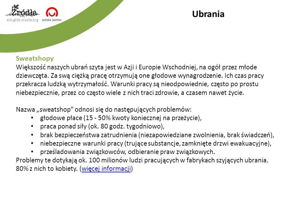 Ubrania Sweatshopy.