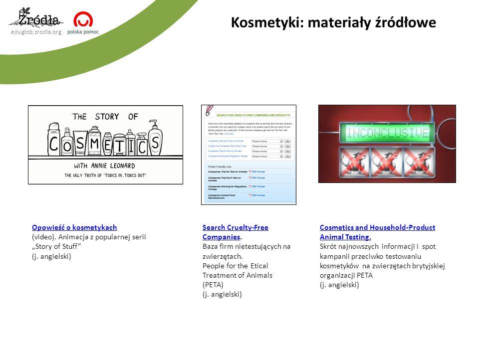 Kosmetyki: materiały źródłowe