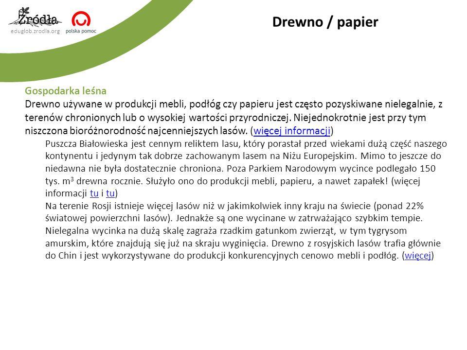 Drewno / papier Gospodarka leśna