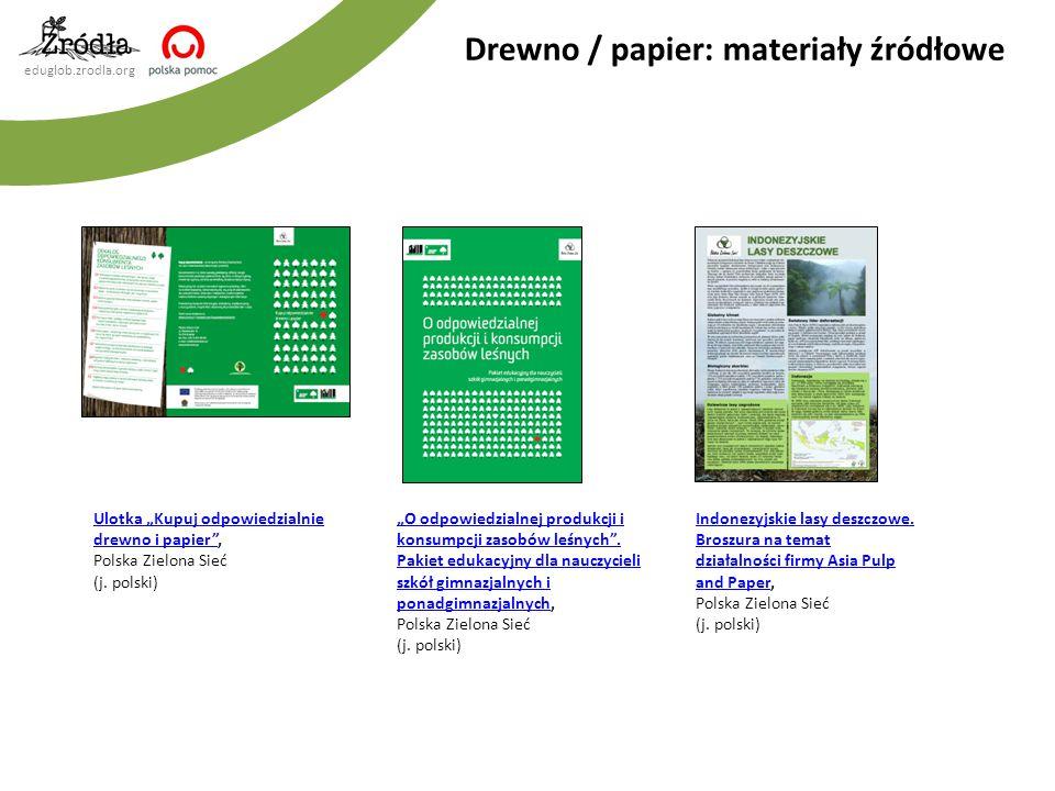 Drewno / papier: materiały źródłowe