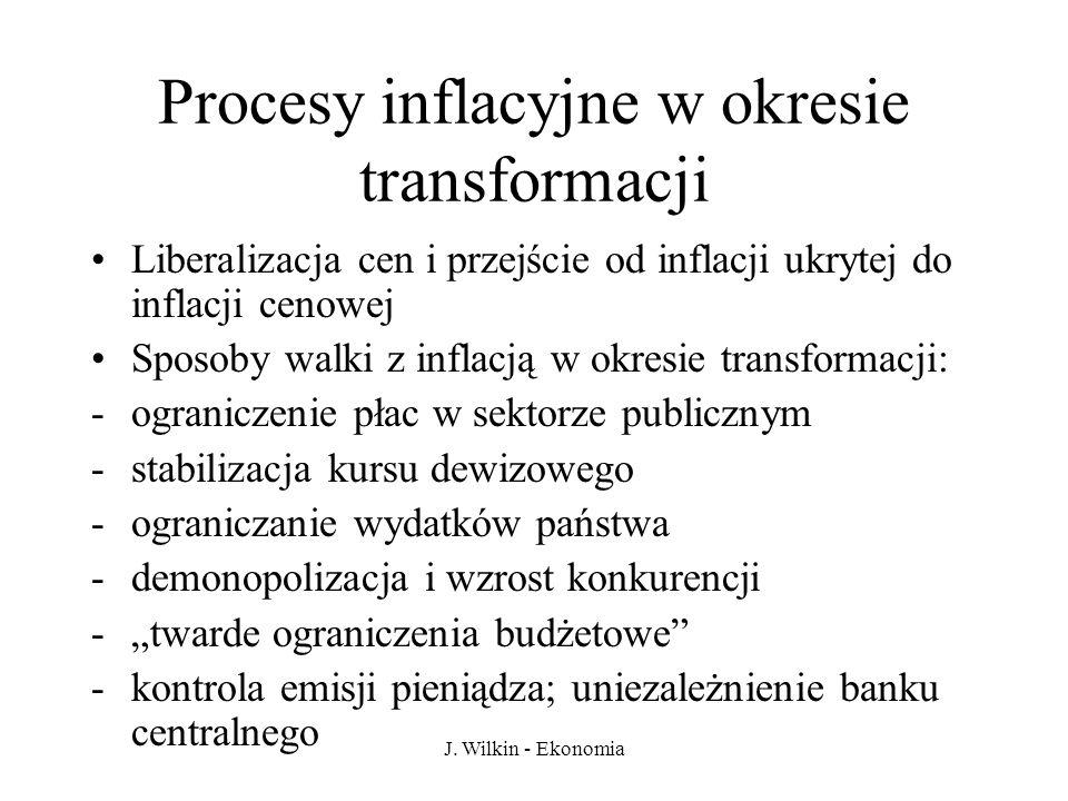 Procesy inflacyjne w okresie transformacji