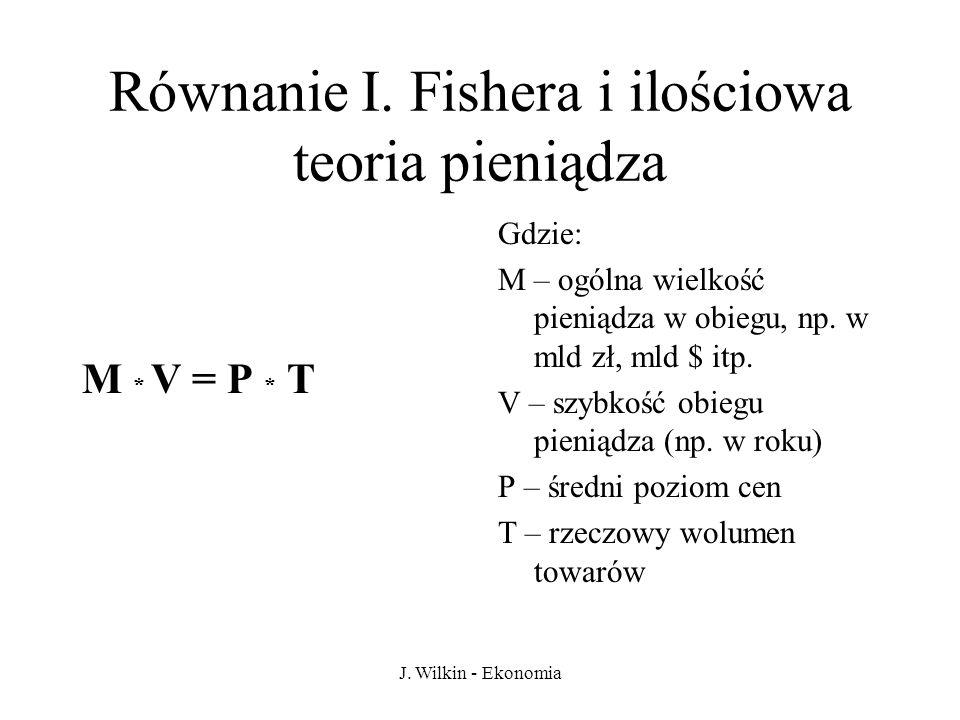 Równanie I. Fishera i ilościowa teoria pieniądza