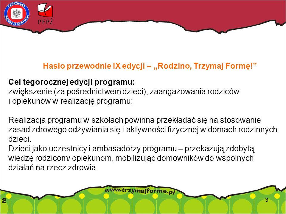 """Hasło przewodnie IX edycji – """"Rodzino, Trzymaj Formę!"""